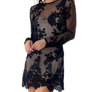 Sky Clothing Brand Dress Mini Bodycon Black Lace